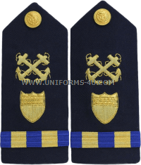 Coast Guard Boatswain Mate Warrant Officer hard shoulder boards