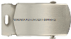 US COAST GUARD AUXILIARY SILVER SATIN FINISH NICKEL BUCKLE