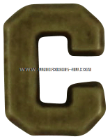 letter c attachment for medals and ribbons