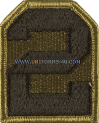 us army 2nd army Patch
