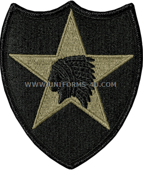 U S  ARMY 2ND INFANTRY DIVISION PATCH