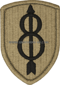 us army 8th infantry division Patch