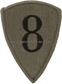 us army 8th personnel command Patch