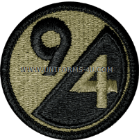 us army 94th infantry division Patch