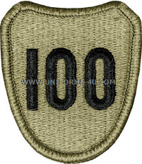 us army 100th infantry division patch