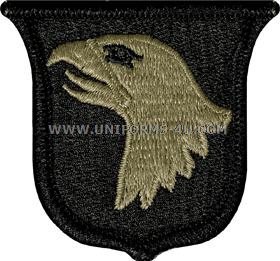 U S  ARMY 101ST AIRBORNE UNIT PATCH