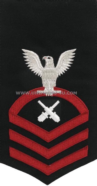 u.s. navy gunner's mate (gm) rating badge